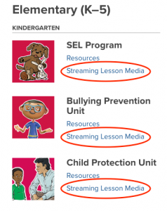 Second Step lesson media, online, curriculm