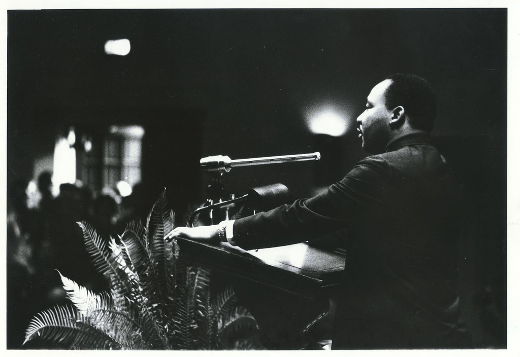 """Dr. Martin Luther King Jr., 13 November 1964"" by Duke University Archives is licensed under CC BY-NC-SA 2.0"
