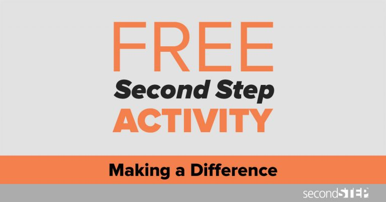 free activity, social emotional learning, second step