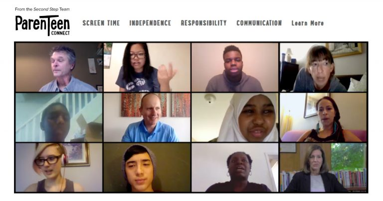 parenteen connect, second step, resources, teens, parents - communication