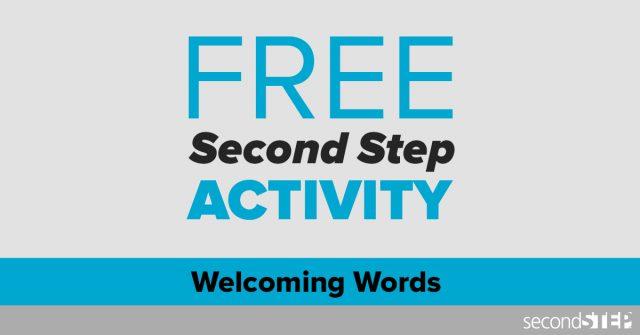 Welcoming Activity