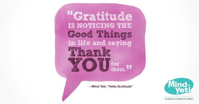 mindfulness, early learning, K-5, social-emotional learning, gratitude
