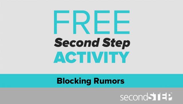 bullying prevention, classroom activities, free, blocking rumors, rumors
