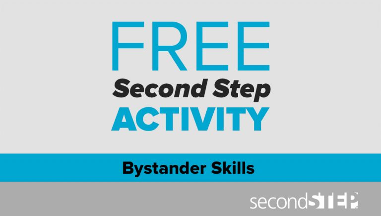 bullying prevention, bystander skills, free activity, middle school, elementary, classroom