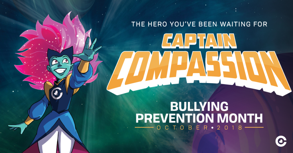 bullying prevention, Captain Compassion, comic strip, bullying prevention month, second step, committee for children