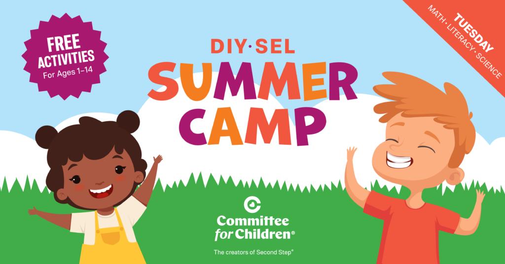 Summer Camp Week 3: Tuesday - math, literacy, science