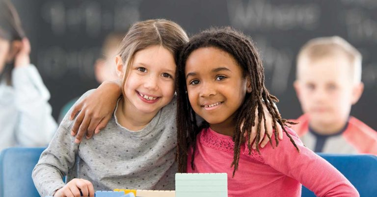 smiling students, bullying prevention, social emotional learning